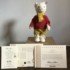 Limited Edition Steiff Rupert Bear - 1079 Of 3000 Made - With Certificates