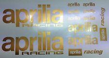 Gold Aprilia RSV Mille Racing Motorsport  -  Aufkleber Set für Motorrad