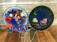 "Lot of 2 Disney 14"" CARS Mickey Halloween Lighted Decor Display Window Sculpture"
