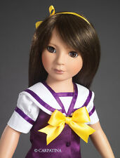 Kohanna 18 inch Slim Doll in School Uniform, Shoes and Bag Made by Carpatina