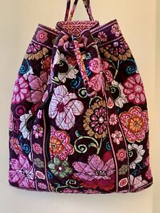 Vera Bradley Mod Floral Pink/Brown Bag RETIRED EXCELLENT Condition