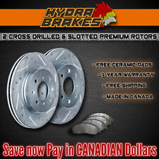 FITS 2015 2016 DODGE GRAND CARAVAN 330MM Drill Slot Brake Rotors CERAMIC SLV F