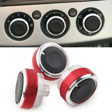 3Pcs Red Air Conditioner Switch Knob Button For Ford Focus MK2 MK3  C/S-max