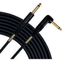 "Mogami Gold Guitar Bass Instrument Cable 1/4"" TS Straight to Right-Angle 6 ft"