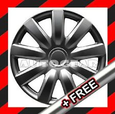 14 inch Charcoal Dark Grey Wheel Trims Cap Covers +FREE