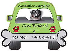 Australian Shepherd -  Dog on Board Magnet Sign