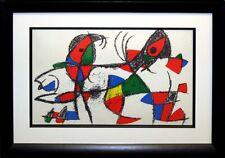 "Miro ""Lithograph II No.X"" 1975 Original Lithograph Custom Frame Art MAKE OFFER"
