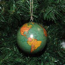 World, Globe, Earth Christmas Ornament