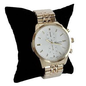 Vimora Gold Large Heavy Metal Mens Quartz Watch