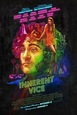 Inherent Vice Double Sided ORIGINAL MOVIE Film POSTER One Sheet - RARE Artwork!