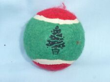 Christmas Tree  TENNIS BALL  Christmas Dog Toy  RED/GREEN  by ZANIES  New!