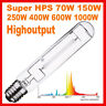 Super HPS 1000W 600W 400W 250W Watt High Pressure Sodium Lamp Bulb Grow Light