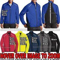 Mens Jacket Windbreaker Full Zip Reflective Water Resistant XS-XL, 2XL, 3XL, 4XL