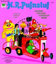 Vintage Reprint - H.R. Pufnstuf Sticker Fun & Press-Out Book Covers - Large Size