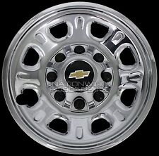 "4 Chevy Silverado 2500 3500 HD 18"" 8 Lug CHROME Wheel Skins Rim Covers Hub Caps"