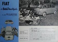 Fiat 600 multipla depliant brochure originale