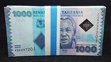 B-D-M Tanzania Bundle 50 Banknotes 1000 Shillings 2015 Pick 41b SC UNC