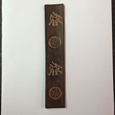 Handmade Leather Bookmark With Basketball Players.