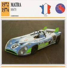 1972-1974 MATRA MS670 Racing Classic Car Photo/Info Maxi Card