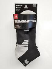 Under Armour U326 Men's Lo Cut Socks (4 Pack) UA Heatgear Tech Gym Train :