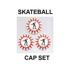 Bally SKATEBALL Pinball Machine POP BUMPER CAP SET