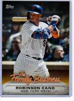 Robinson Cano 2019 Topps Update The Family Business 5x7 Gold #FB-23 /10 Mets