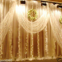 3*3M 300LED Curtain String Lights Xmas Wedding Party Fairy Lamps Decor Striking