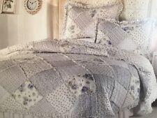 Devonshire Patchwork Cotton Quilt No Shams  Blue Floral New Full/queen