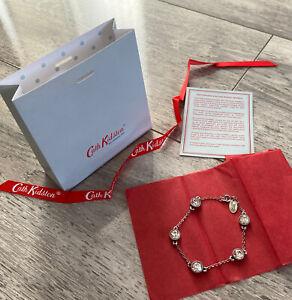 Cath Kidson Silver Plated Bracelet With Swarovski Stones BN