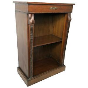 Fine English Small Regency Style Dwarf Mahogany Open Bookcase Display Cabinet