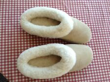 Lady's Genuine Australian Shearling Sheepskin/Suede Slippers Wool Booties NWOT