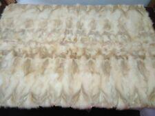 Luxury Gold Fox Fur Throw Real Fox Fur Blanket / Bedspread