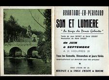 """BRANTOME (24) SON & LUMIERE """"SONORISATION René CHERON"""" Publicité PHILIPS"""