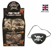 12x PIRATE EYE PATCHES Skull And Crossbones Patch Party Bag Favor Fancy Dress UK
