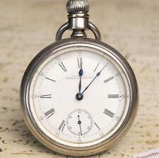 WALTHAM PS BARLETT Coin Silver Antique Pocket Watch - running