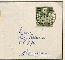 BOIC KGVI Cover 1942 Eritrea GB Overprint High Value RARE VARIETY SG.10a MS3287