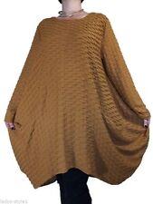 Knielange Langarm Damenkleider ohne Muster für die Freizeit