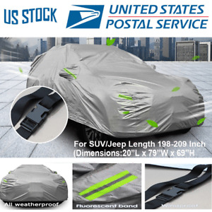 All weather Car Cover Outdoor Waterproof UV Rain Protection Universal SUV & JEEP