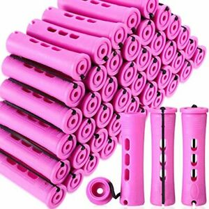 60 Pieces Hair Perm Rods Non-Slip Hair Rollers (Purple,0.75 Inch)