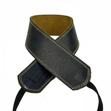 "Pete Schmidt Leather 2"" Camera Neck Strap (Black Iguana) Cream Stitch - NEW"