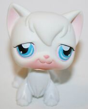 Littlest Pet Shop Cat Kitty Angora Long Hair White w Blue Eyes #9 Htf