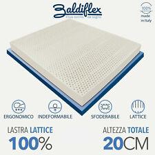 MATERASSO MATRIMONIALE LATTICE 100% ALTEZZA 20 CM SFODERABILE ALOE MADE IN ITALY