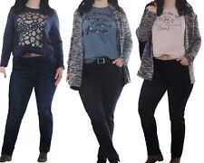 Damen STRETCHHOSE big size normal regular fit Stretch Jeans Five Pocket Hose