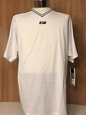 NWT Reebok Soccer T Shirt Logo XL Blue White V Neck