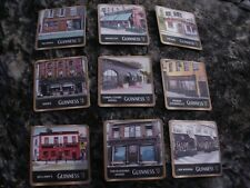 GUINNESS BEER COASTERS - FEATURING VARIOUS GUINNESS PUBS - 9 COASTERS - 2nd lot