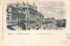 AK Gruss aus Wörishofen, Bachstrasse mit Kurhaus, Bayern (H31)