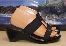 f68977699d Damiani's Italy SAVANNAH Black Wedge Heel Platform Sandals Shoes! Women's  ...