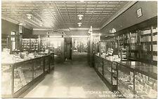 RPPC MN Minnesota North Branch 1921 Anderson Drug Store Interior Cigars Etc.