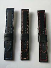 Sell a lot 250 pcs  genuine leather watch straps bands with contrast stitch=199$