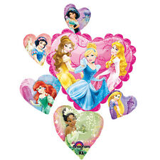 DISNEY PRINCESS SPARKLE SUPERSHAPE FOIL MYLAR BALLOON ~ Birthday Party Supplies